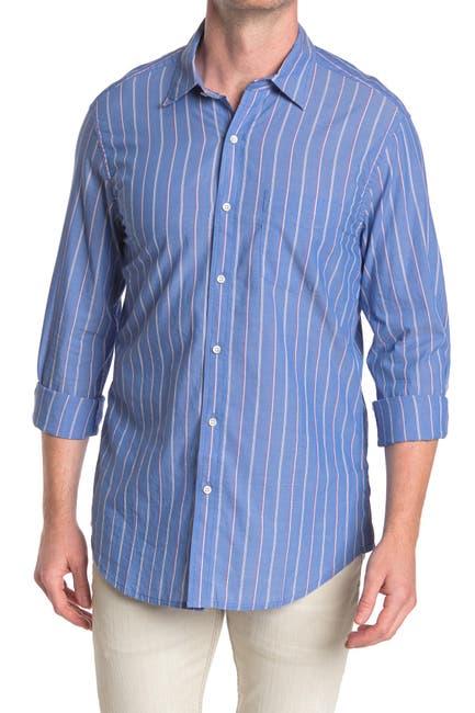 Image of ALEX MILL Lightweight Standard Stripe Print Regular Fit Shirt