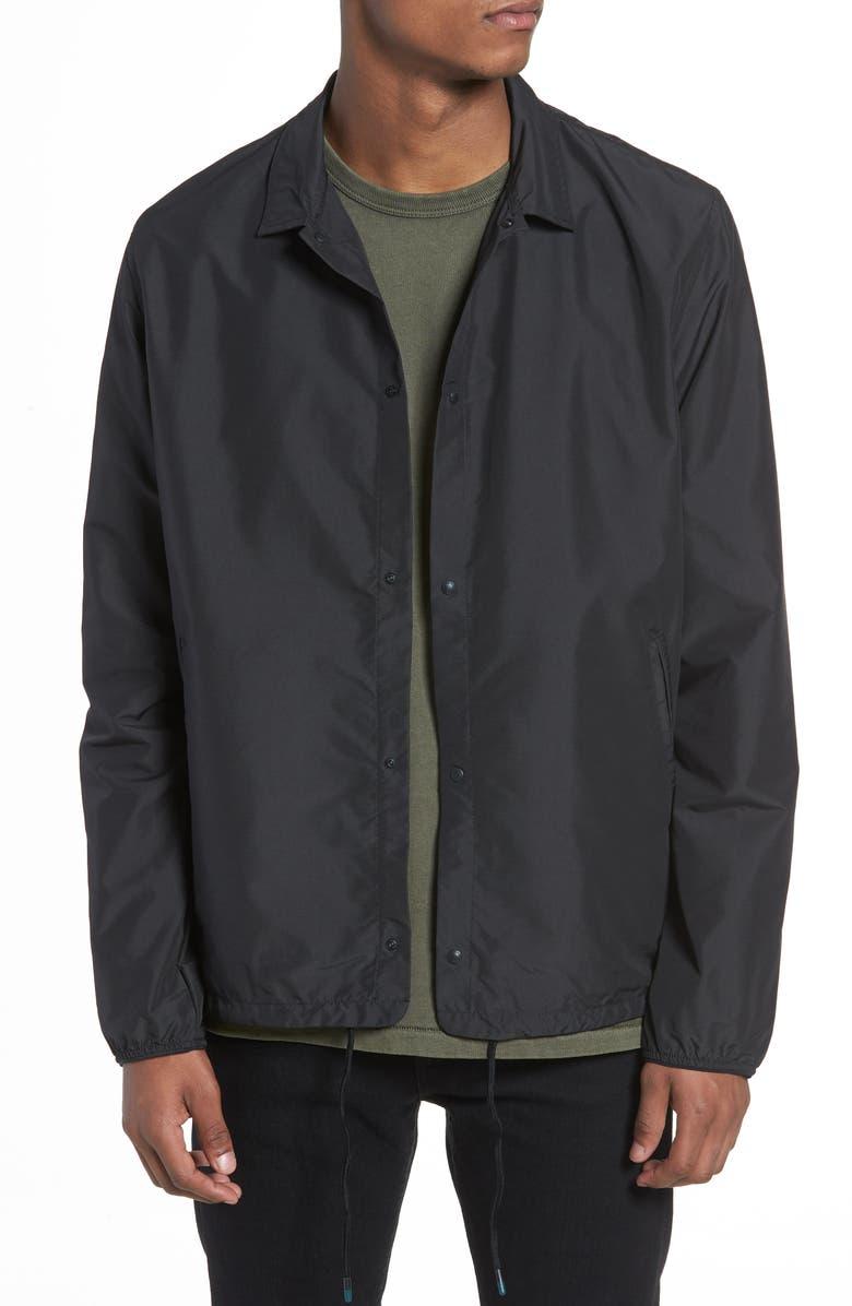 HERSCHEL SUPPLY CO. Voyage Coach's Jacket, Main, color, BLACK