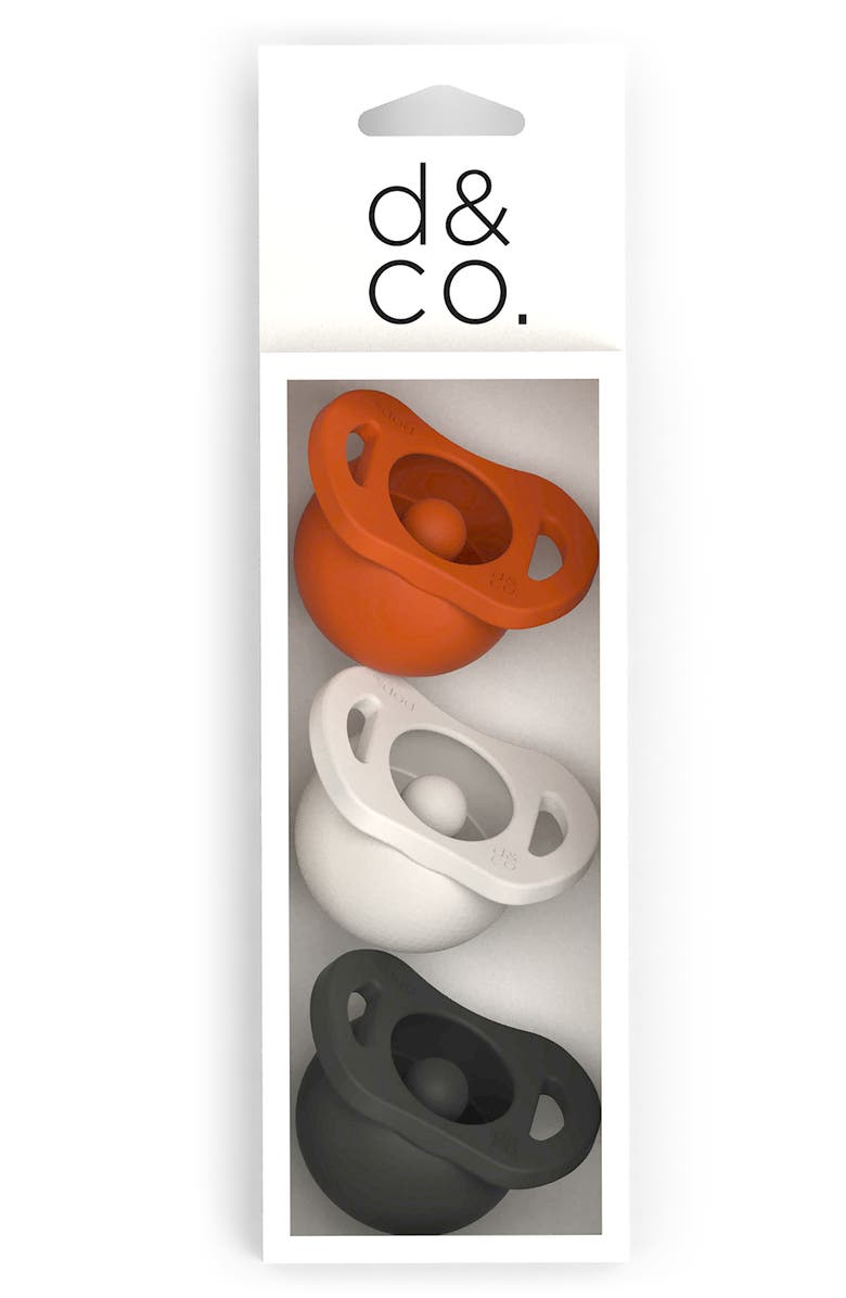 DODDLE & CO 3-Pack The Pop & Go Pacifiers, Main, color, SUGAR AND SPICE/ CREAM / COAL