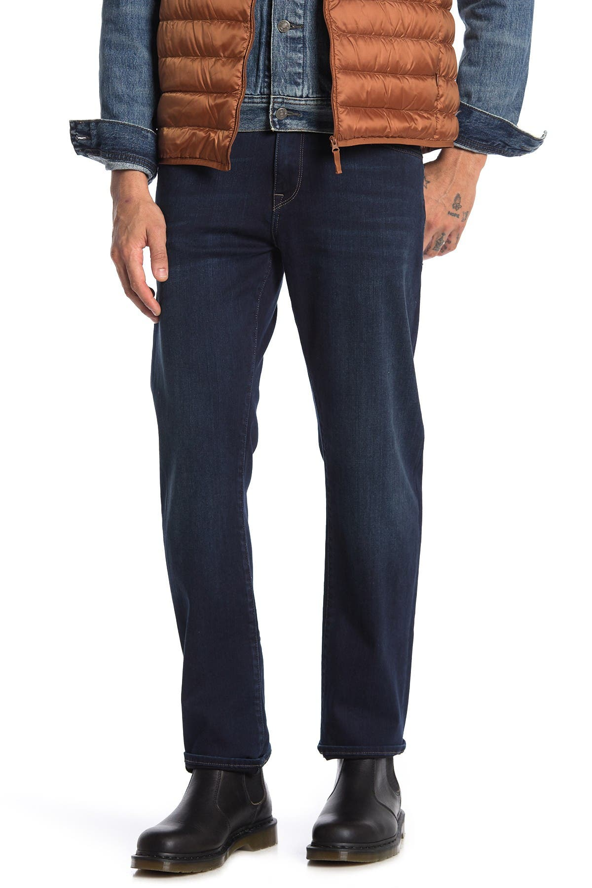 "Image of Mavi Zach Straight Leg Jeans - 30-34"" Inseam"