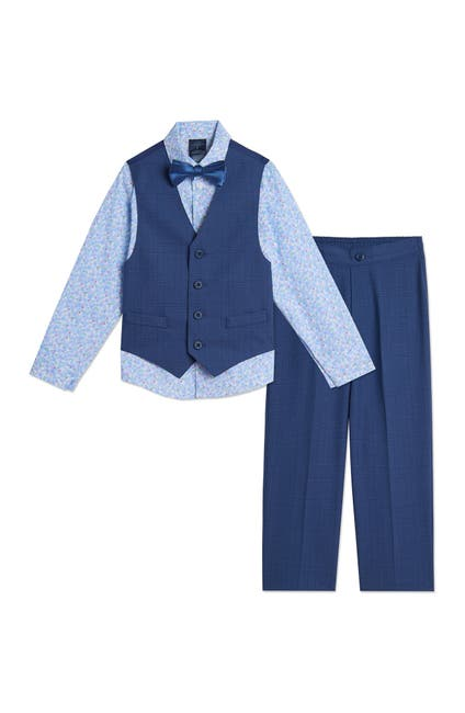 Image of Tommy Hilfiger Glen Plaid Vest 4-Piece Set
