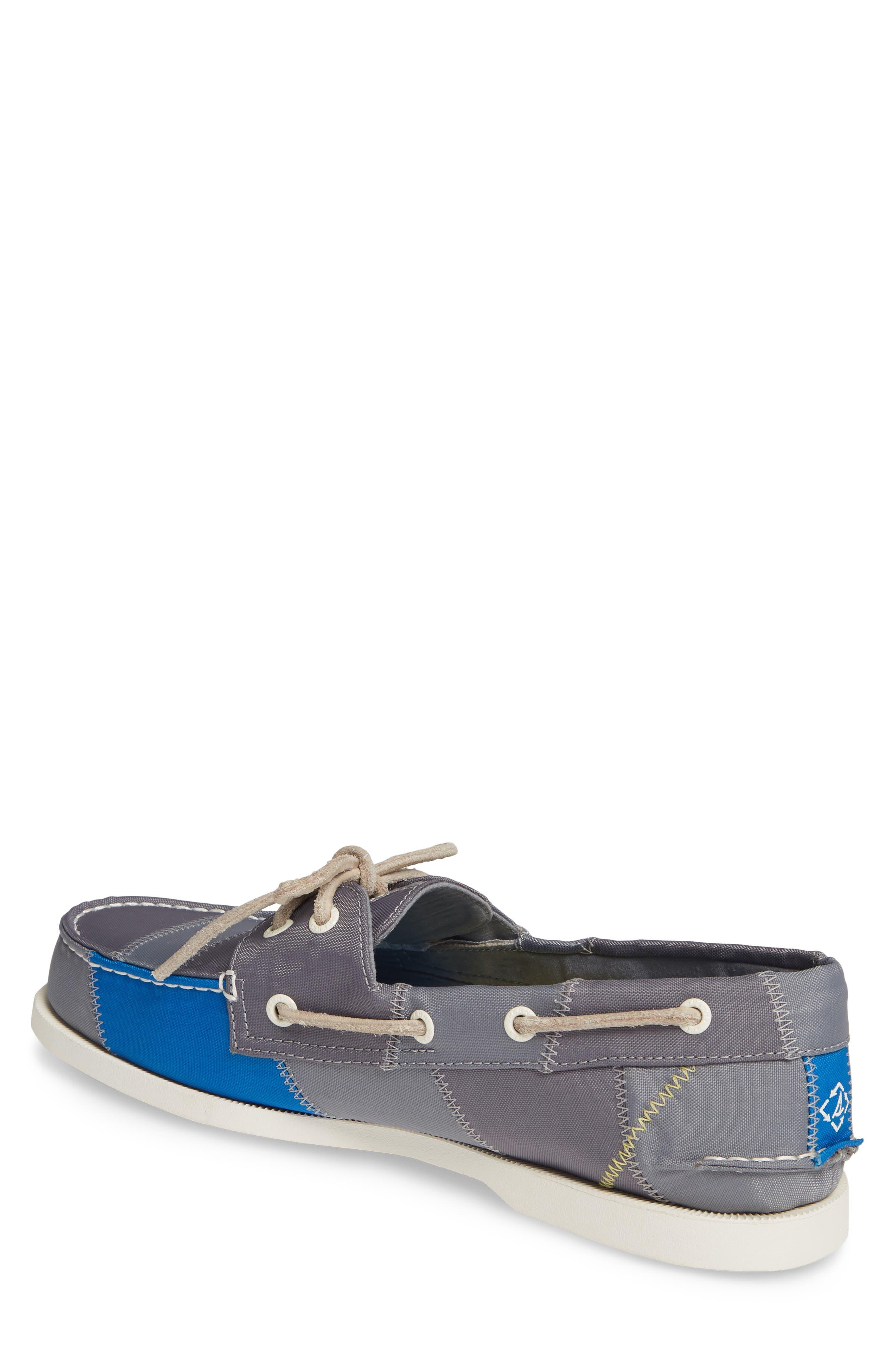 ,                             Authentic Original BIONIC<sup>®</sup> Boat Shoe,                             Alternate thumbnail 2, color,                             GREY/ BLUE