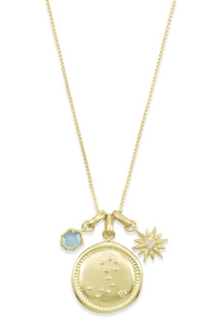 Image of Kendra Scott 14K Gold Plated Pisces Charm Necklace