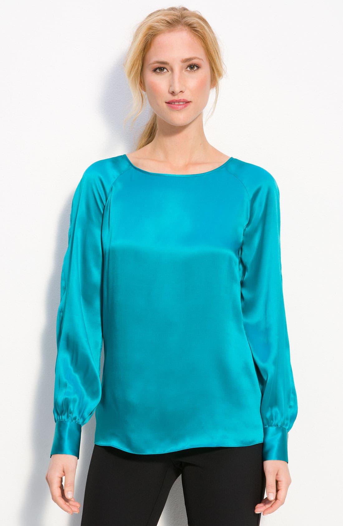 Silk Blouse, Main, color, 400