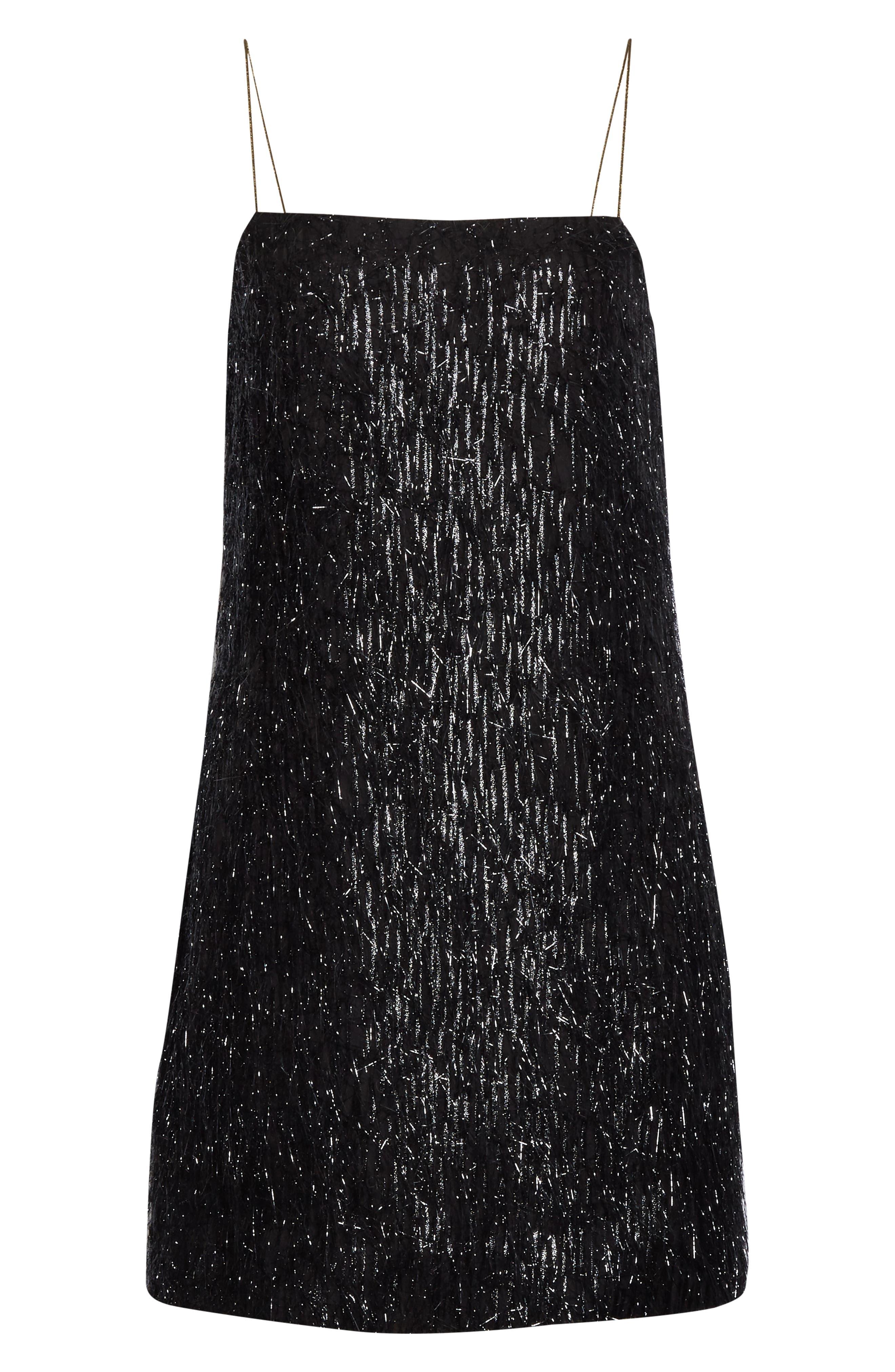 Kate spade new york LUREX FRINGE MINI DRESS