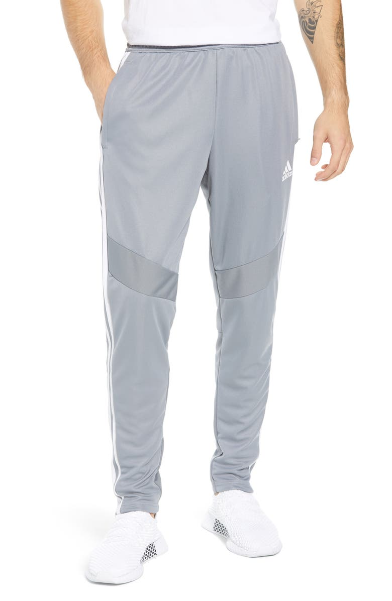 ADIDAS Tiro Soccer Training Pants, Main, color, GREY/ WHITE