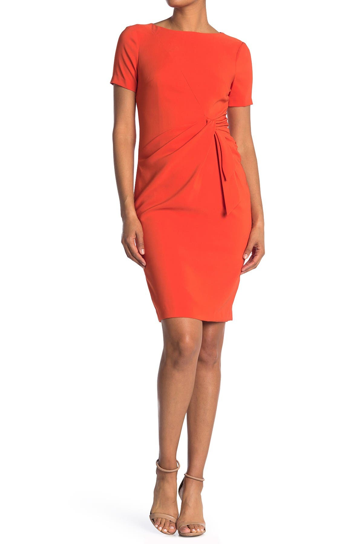 Image of Maggy London Draped Faux Tie Dress