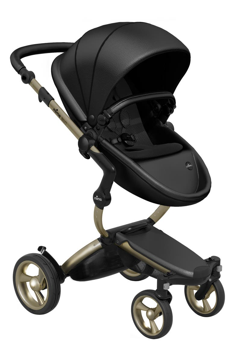 MIMA Xari Stroller with Reversible Reclining Seat & Carrycot, Main, color, BLACK/ BLACK