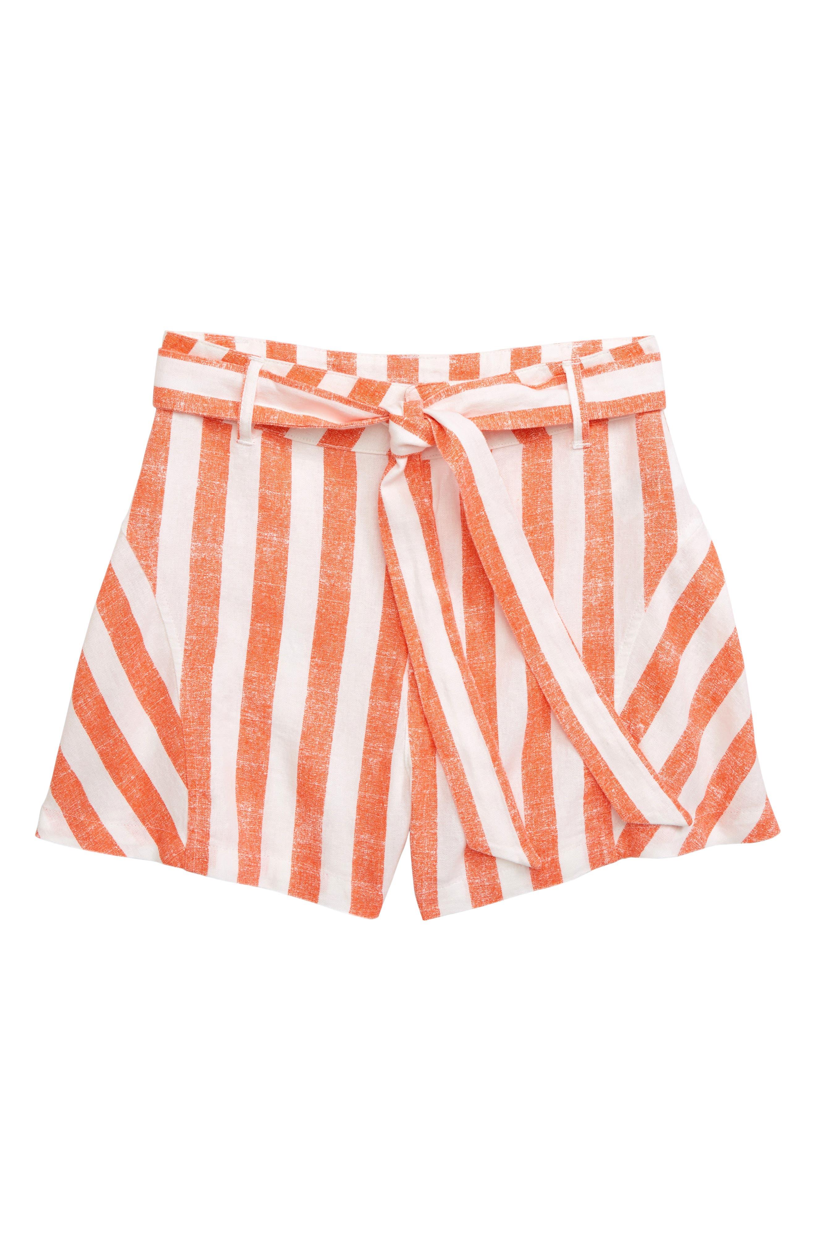 Girls Habitual Tegan Stripe Shorts Size 12  Orange