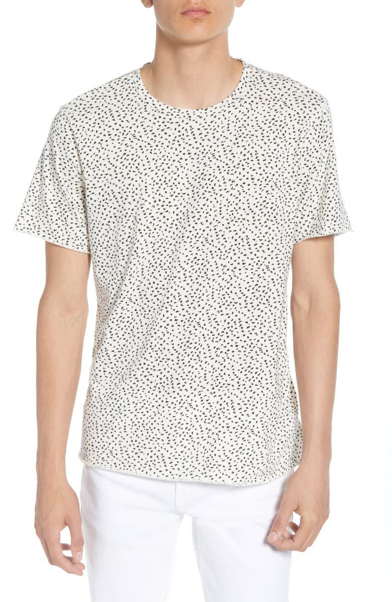 TREASURE & BOND Ditsy Print T-Shirt, Main, color, 100