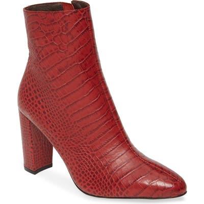 Matisse Cadet Block Heel Bootie- Red