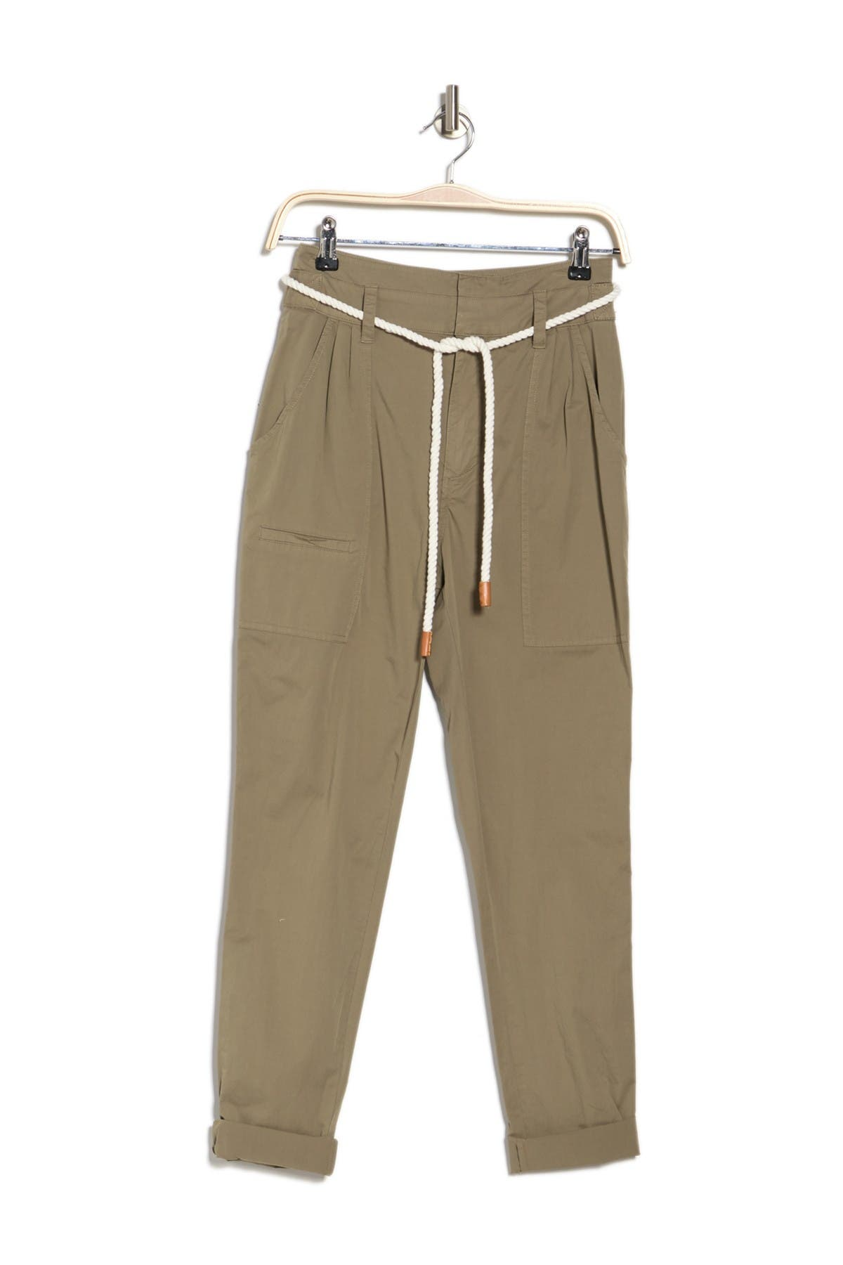 Image of FRAME Casual Waist Tie Pleated Trousers