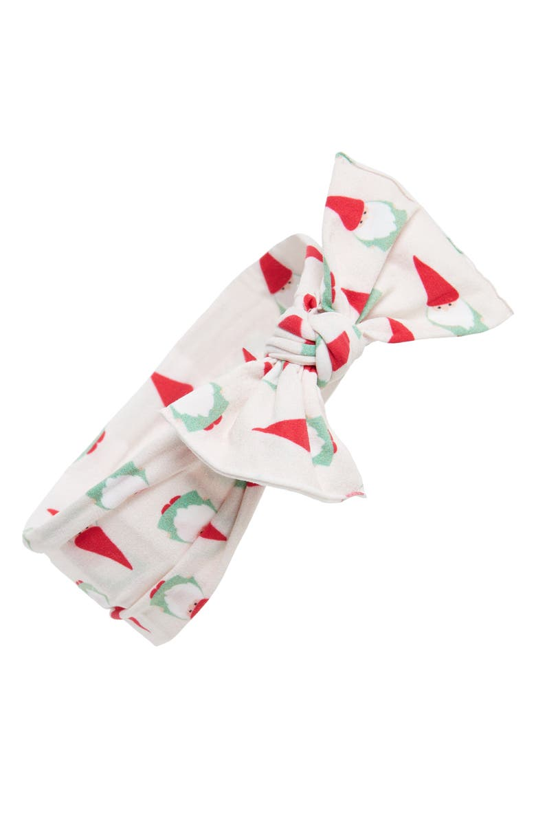 BABY BLING Printed Knot Headband, Main, color, GNOME