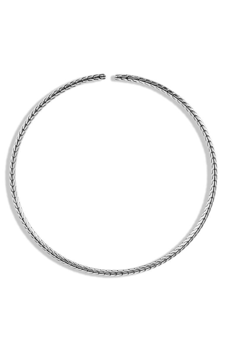 JOHN HARDY Classic Chain Coil Necklace, Main, color, SILVER