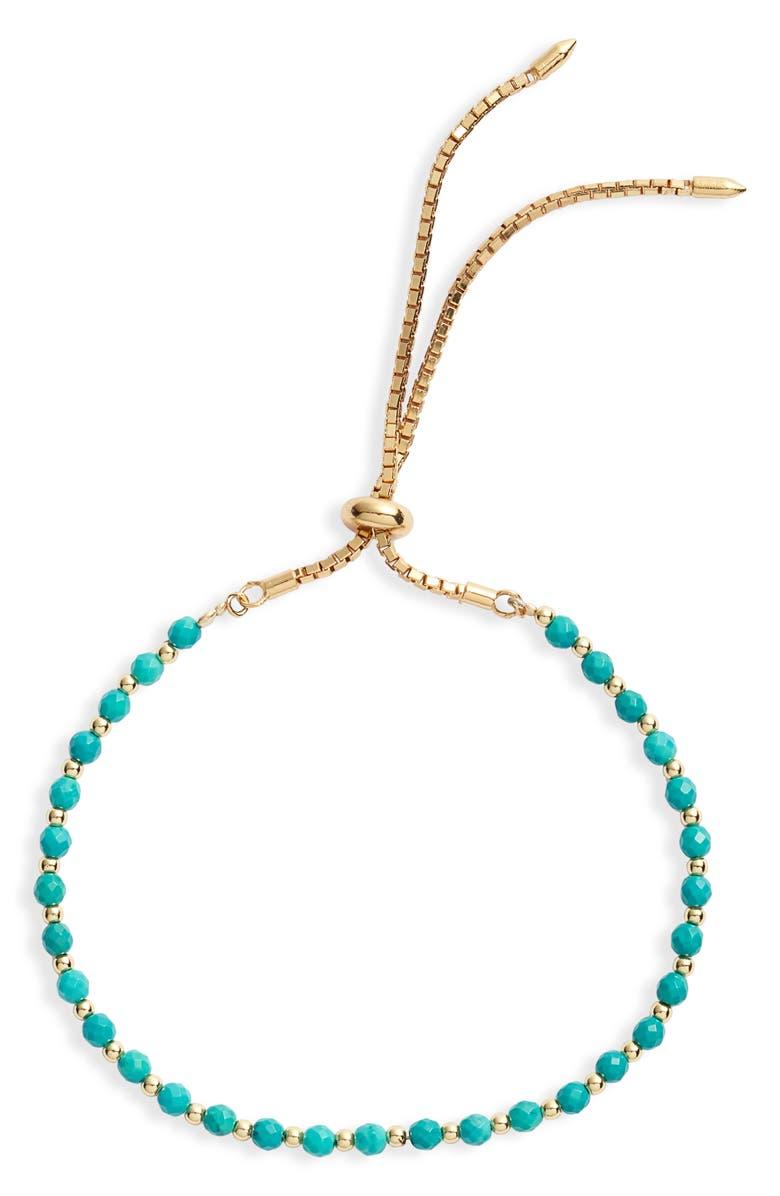 ARGENTO VIVO Turquoise Slider Bracelet, Main, color, 710
