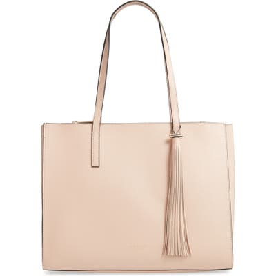 Ted Baker London Large Narissa Leather Tote - Beige