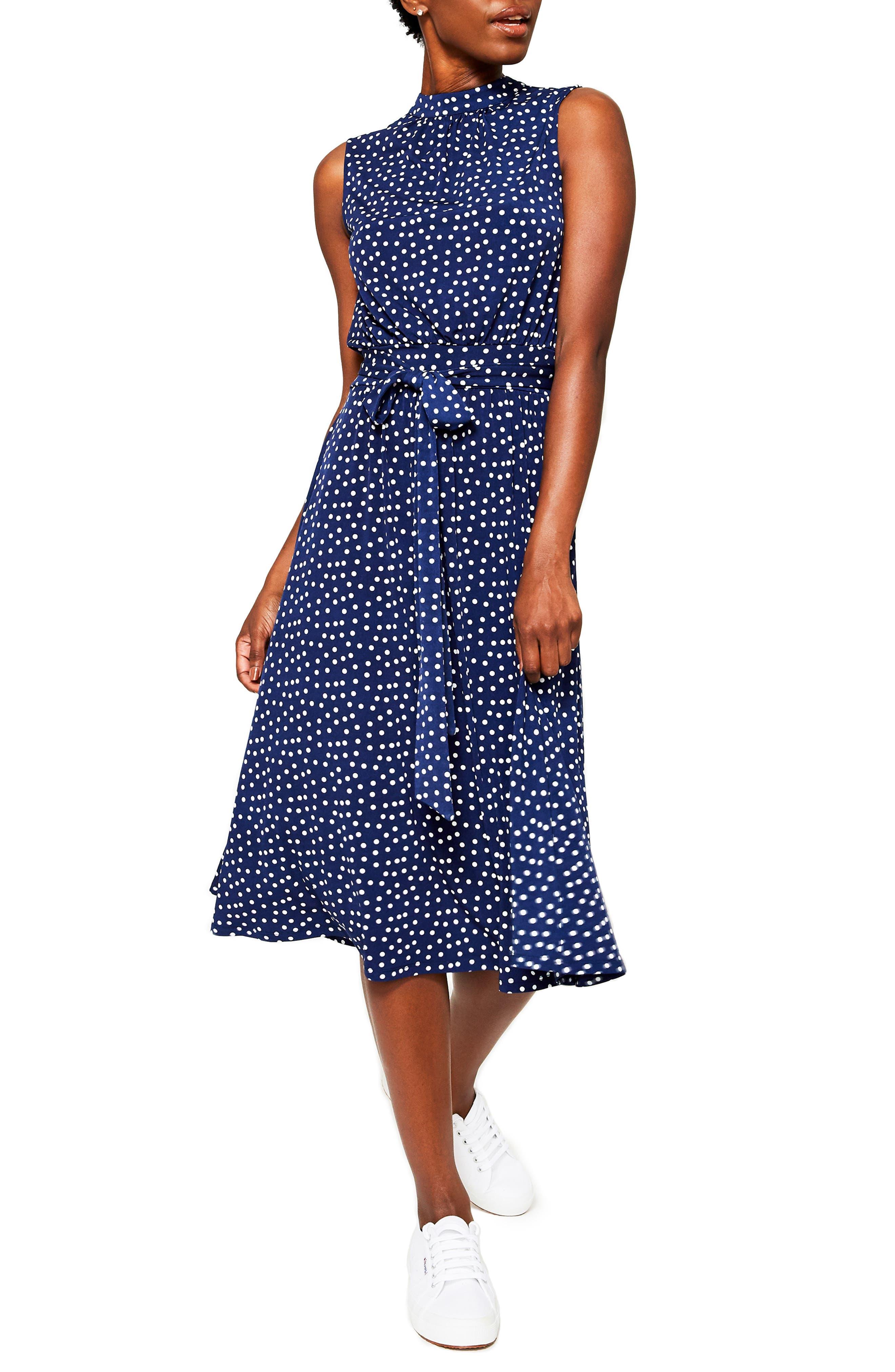 Leota Mindy Print Midi Dress