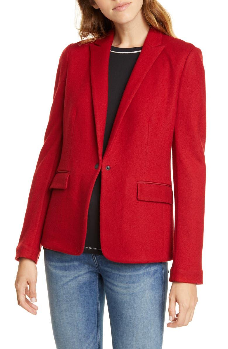 RAG & BONE Lexington Wool Blazer, Main, color, RED