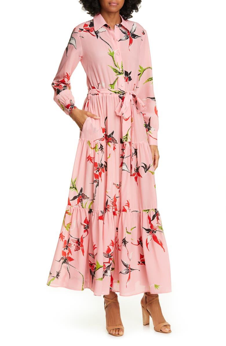 La DoubleJ Bellini Long Sleeve Silk Maxi Shirtdress   Nordstrom