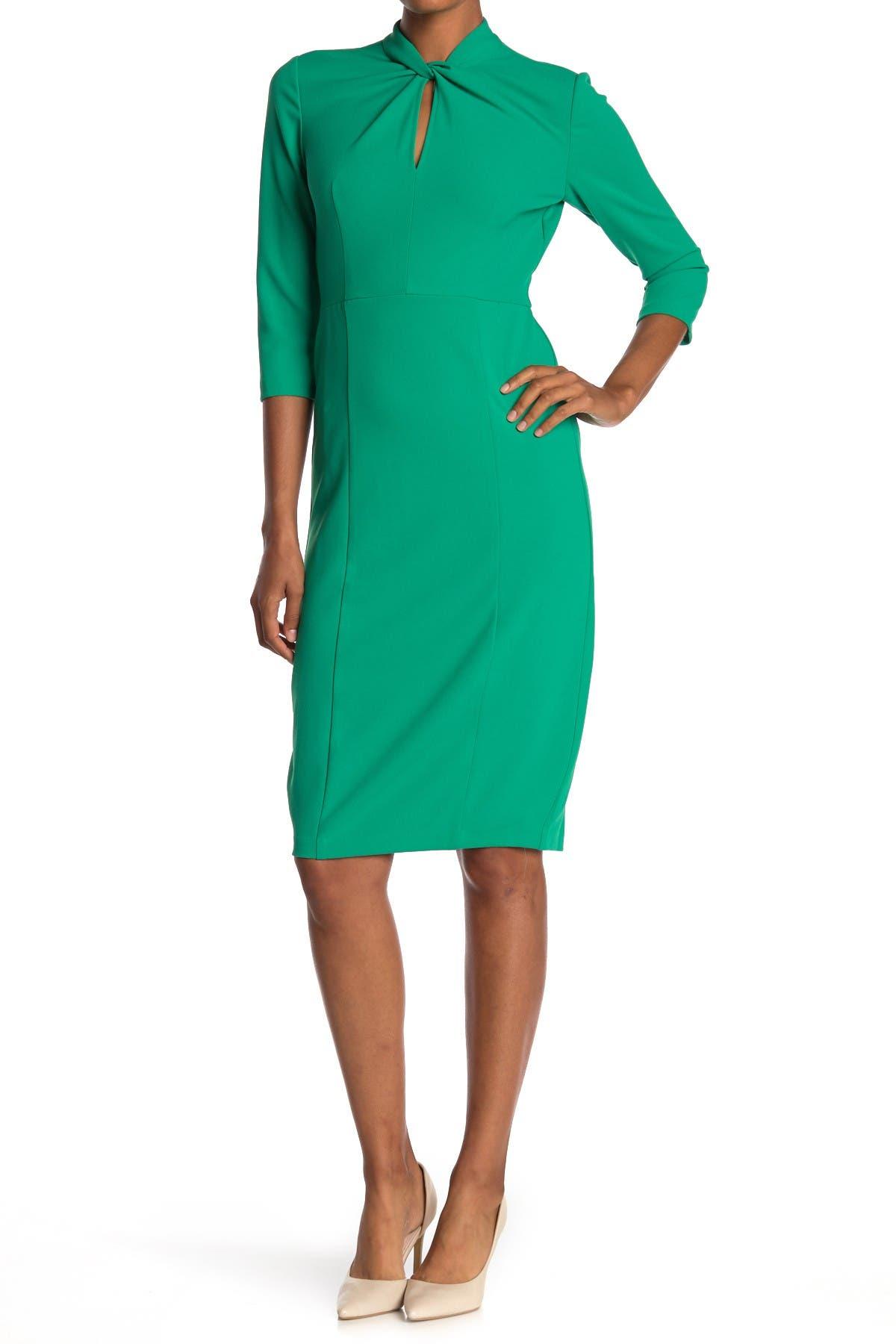 Image of Donna Morgan Keyhole Crepe Sheath Dress