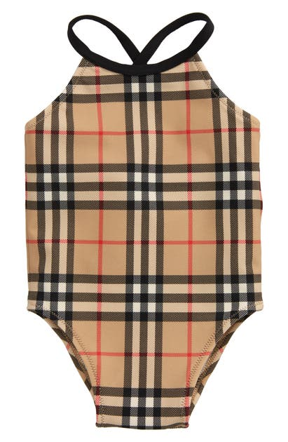 Burberry CRINA CHECK ONE-PIECE SWIMSUIT