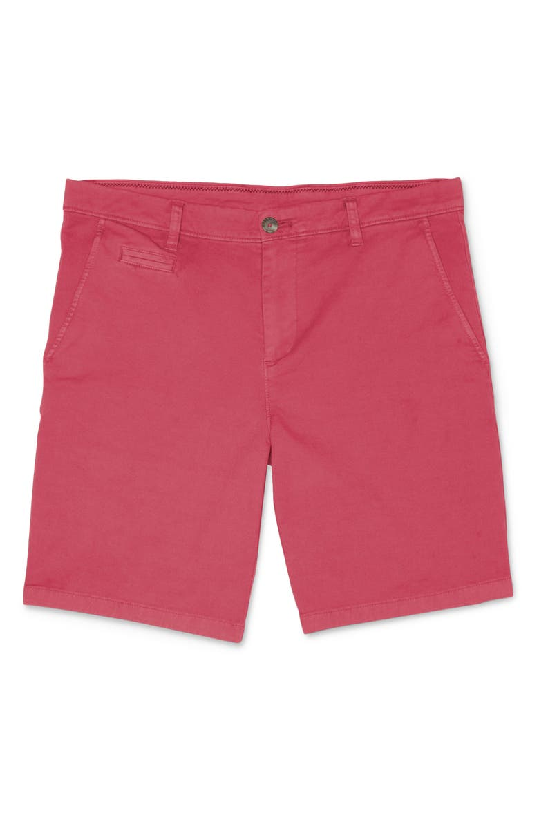 JOHNNIE-O Neal Twill Shorts, Main, color, MALIBU RED