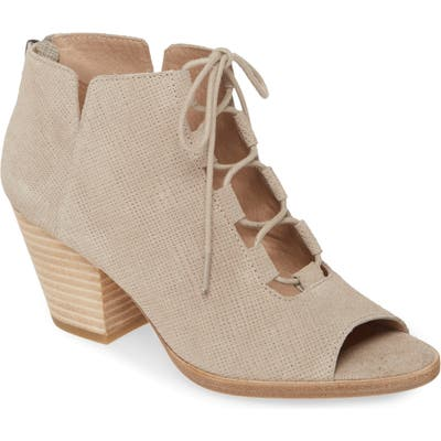 Eileen Fisher Fallon Open Toe Bootie, Beige
