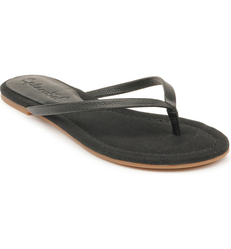 SPLENDID Ashlee Flip Flop, Main, color, BLACK LEATHER
