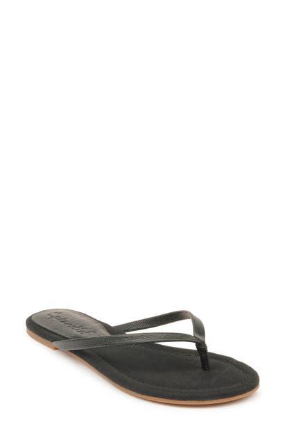 Splendid Ashlee Flip Flop In Black Leather