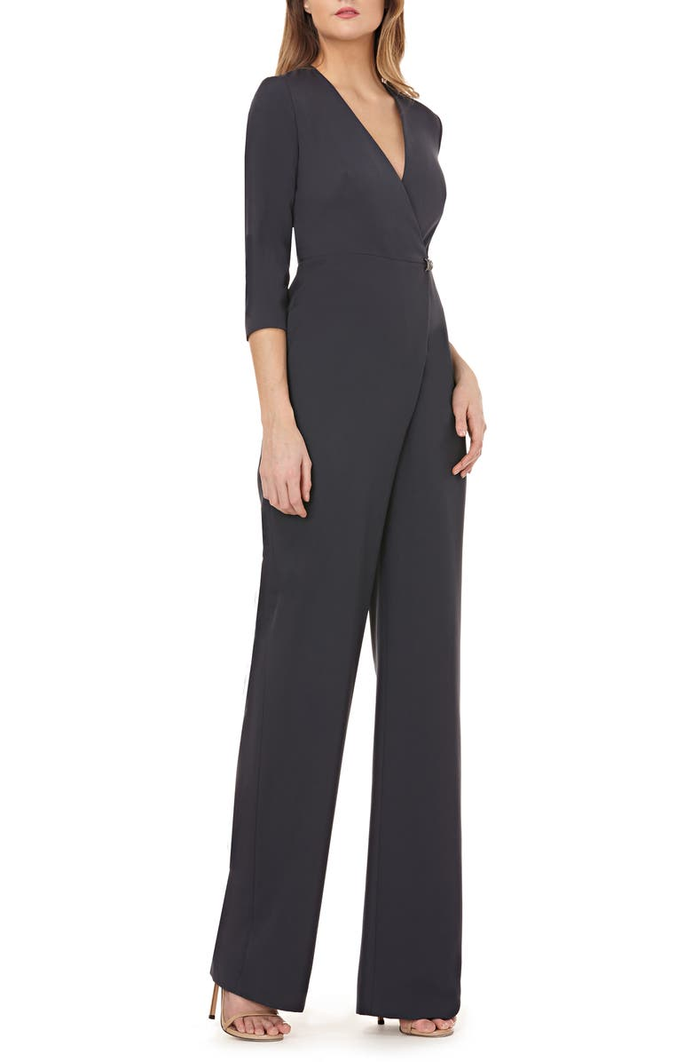 KAY UNGER Wide Leg Jumpsuit, Main, color, CHARCOAL