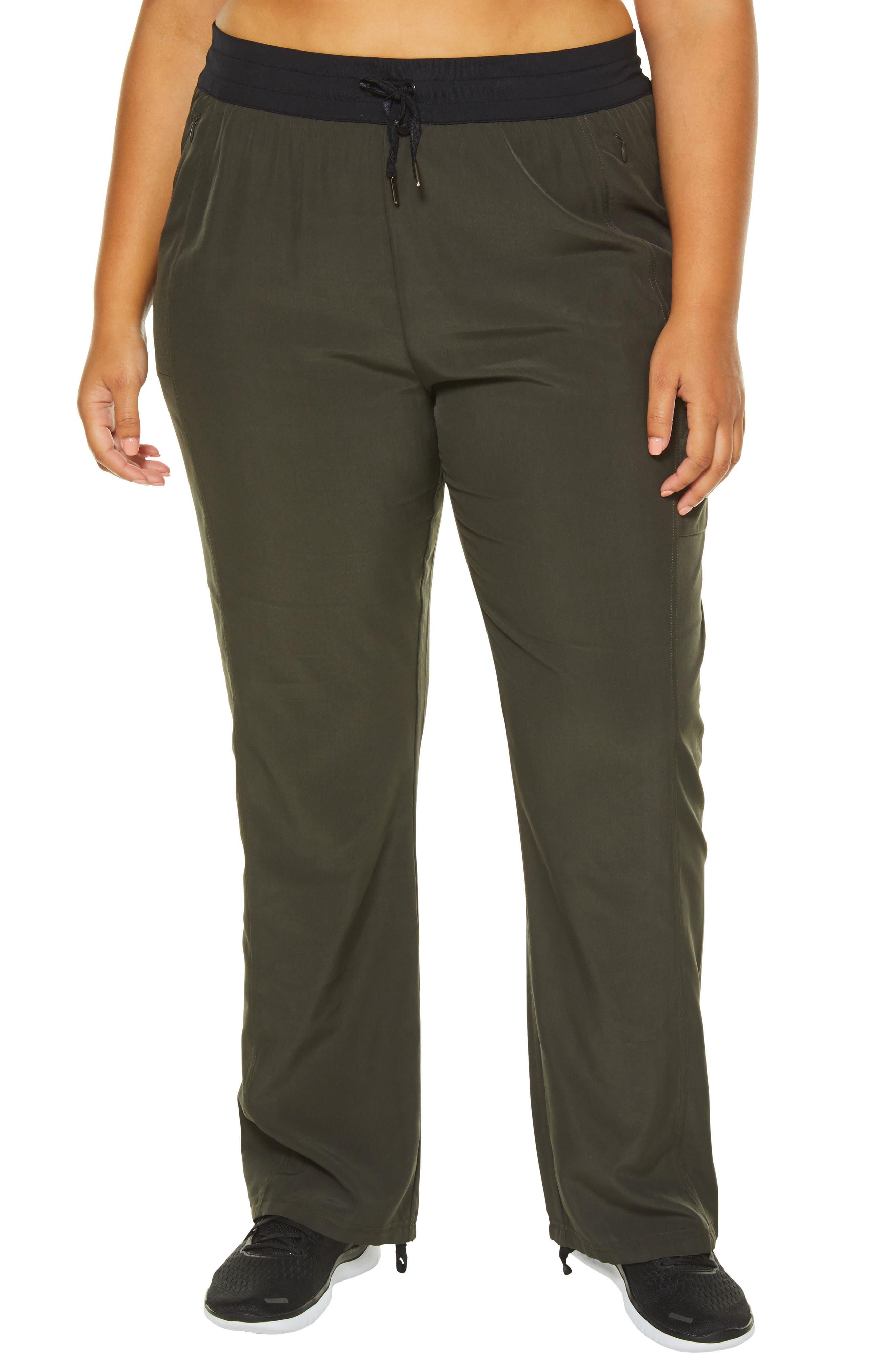 Plus Size Shape Activewear Jetset High Rise Pants, Green