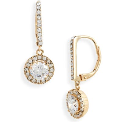 Nordstrom Cubic Zirconia Halo Drop Earrings