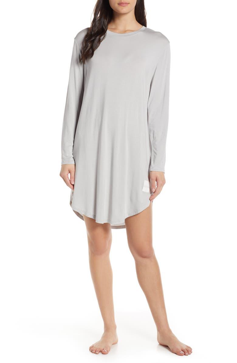CHALMERS Wednesday Sleep Shirt, Main, color, CLOUD TECH SWEAT