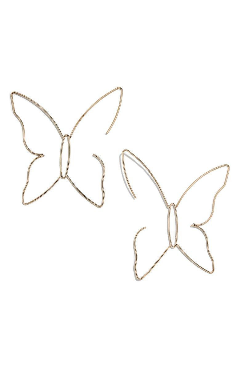 BAUBLEBAR Delicate Butterfly Drop Earrings, Main, color, 710