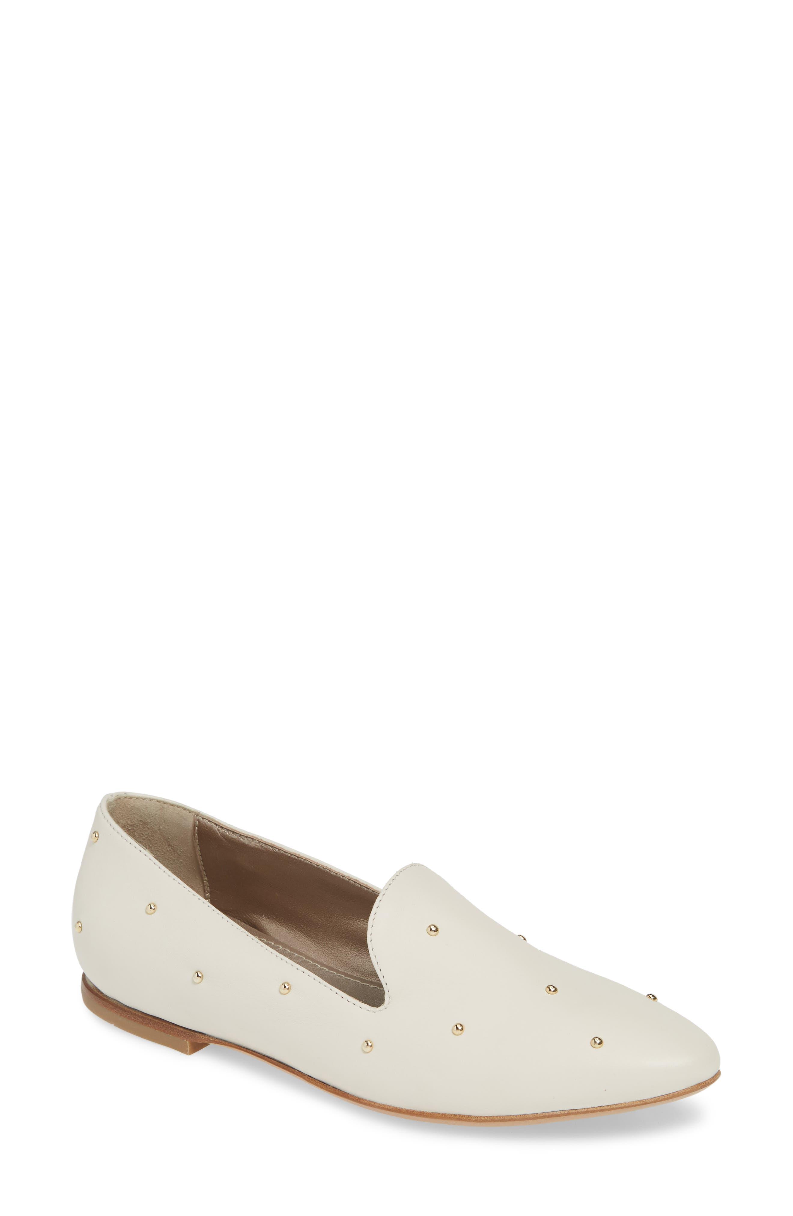Agl Studded Loafer, Ivory