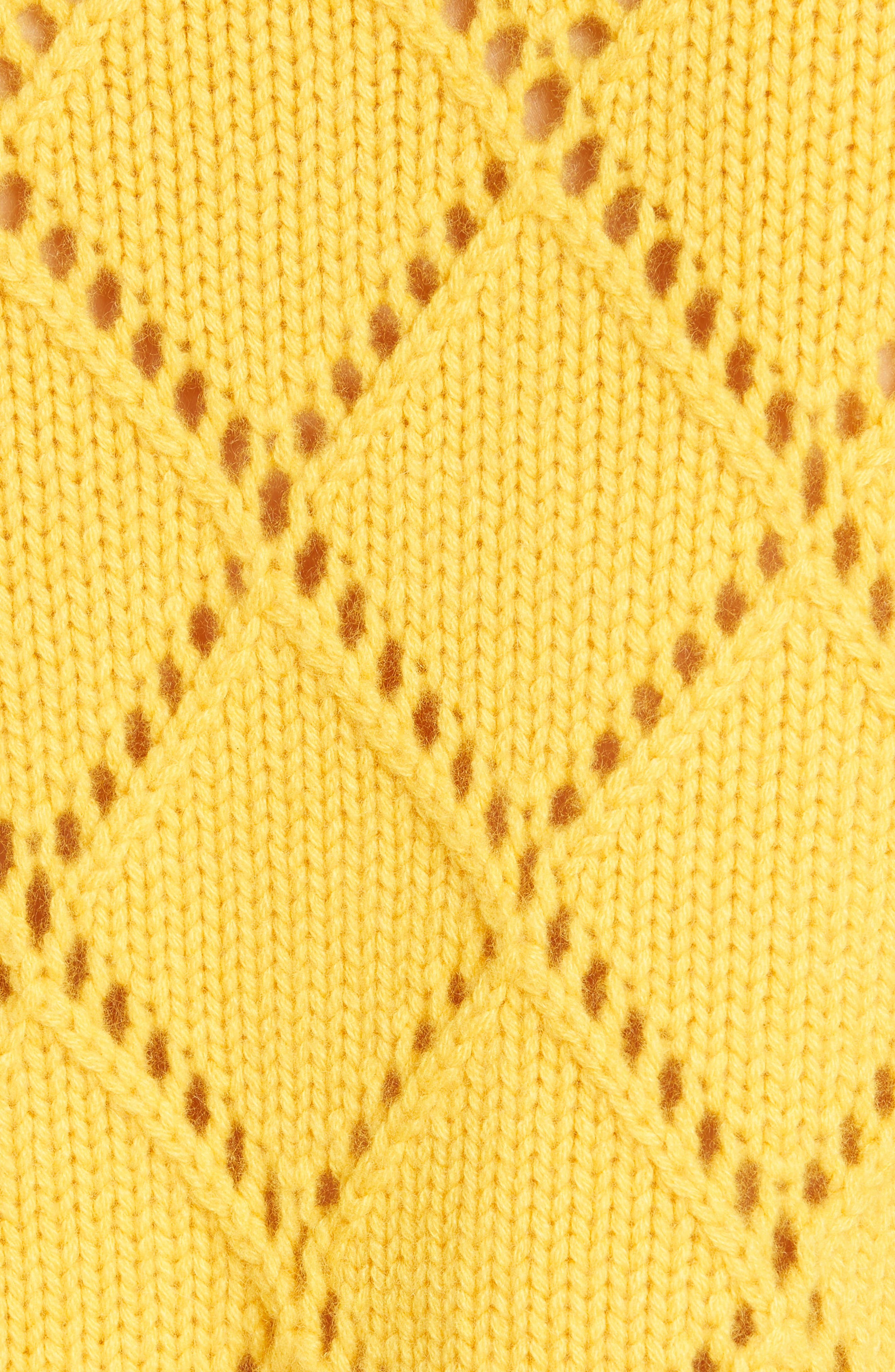 ,                             Cashmere Textured Harlequin Sweater,                             Alternate thumbnail 5, color,                             YELLOW