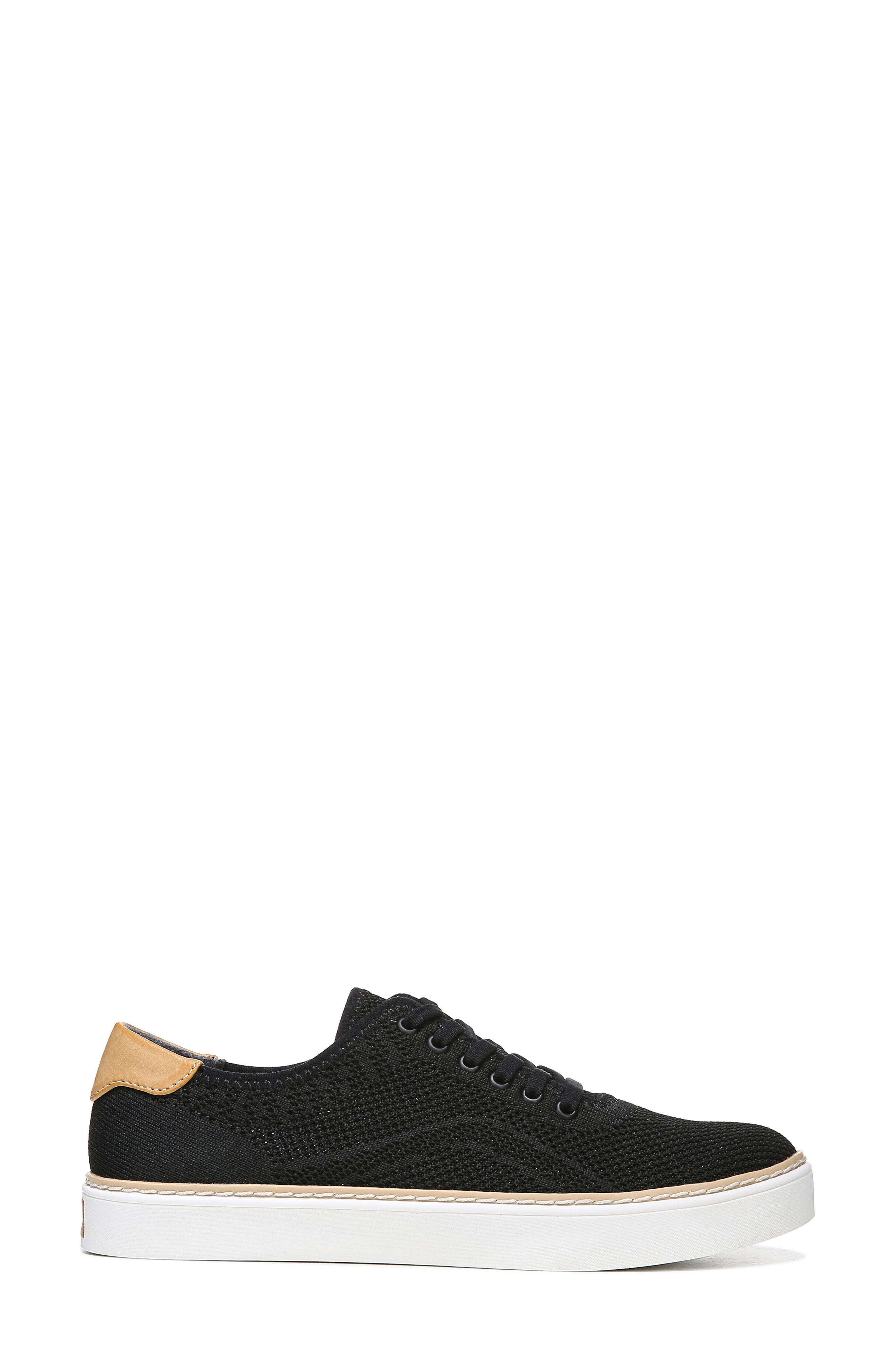 ,                             Madi Sneaker,                             Alternate thumbnail 3, color,                             BLACK FABRIC