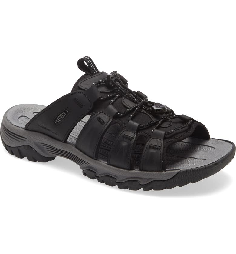 KEEN Targhee III Slide Sandal, Main, color, BLACK/ GREY