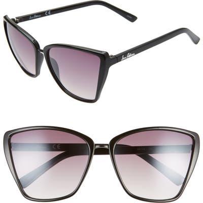 Sam Edelman 60mm Oversize Cat Eye Sunglasses - Black