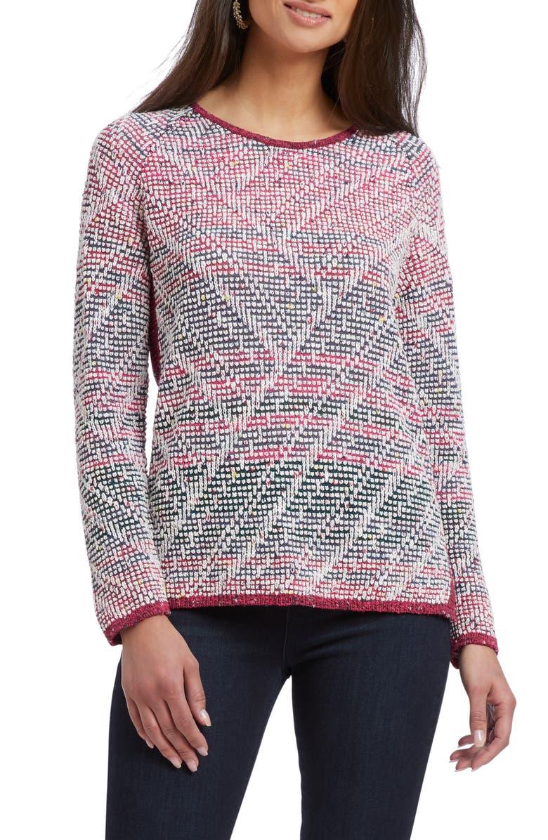 NIC+ZOE Boulder Sweater, Main, color, MULTI