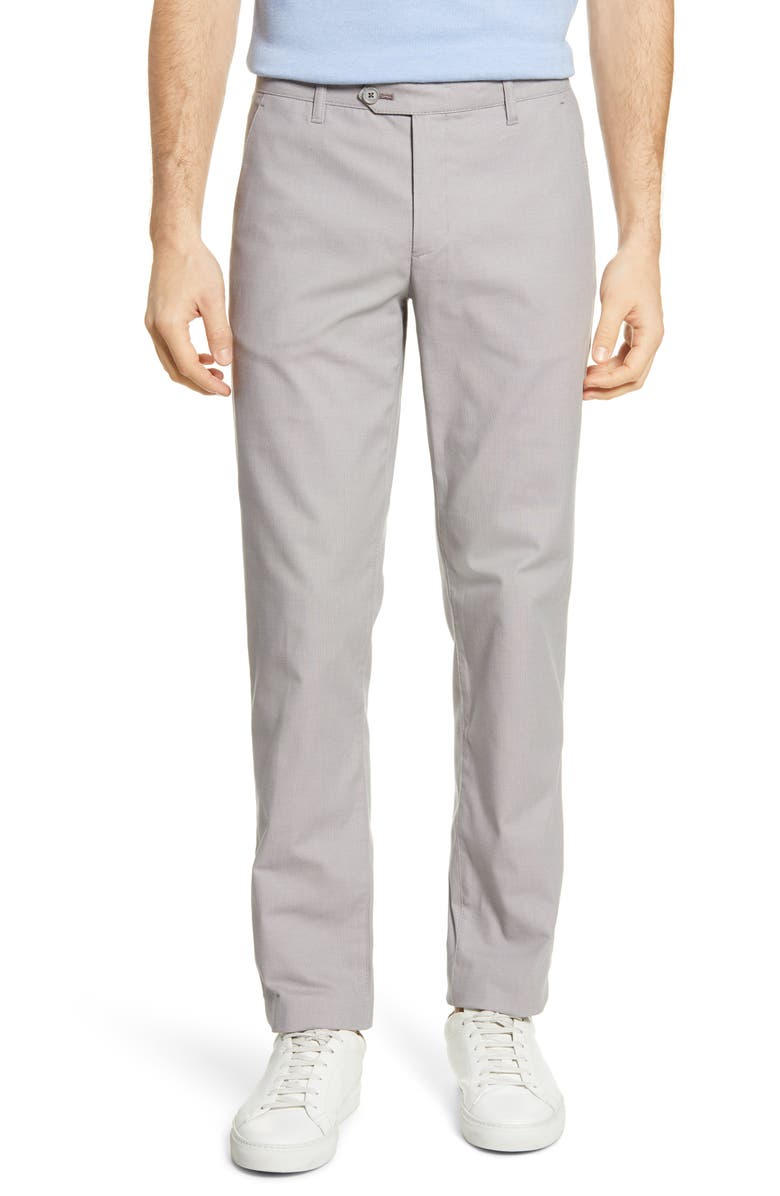 TED BAKER LONDON Penguin Slim Fit Classic Dress Pants, Main, color, LIGHT GREY