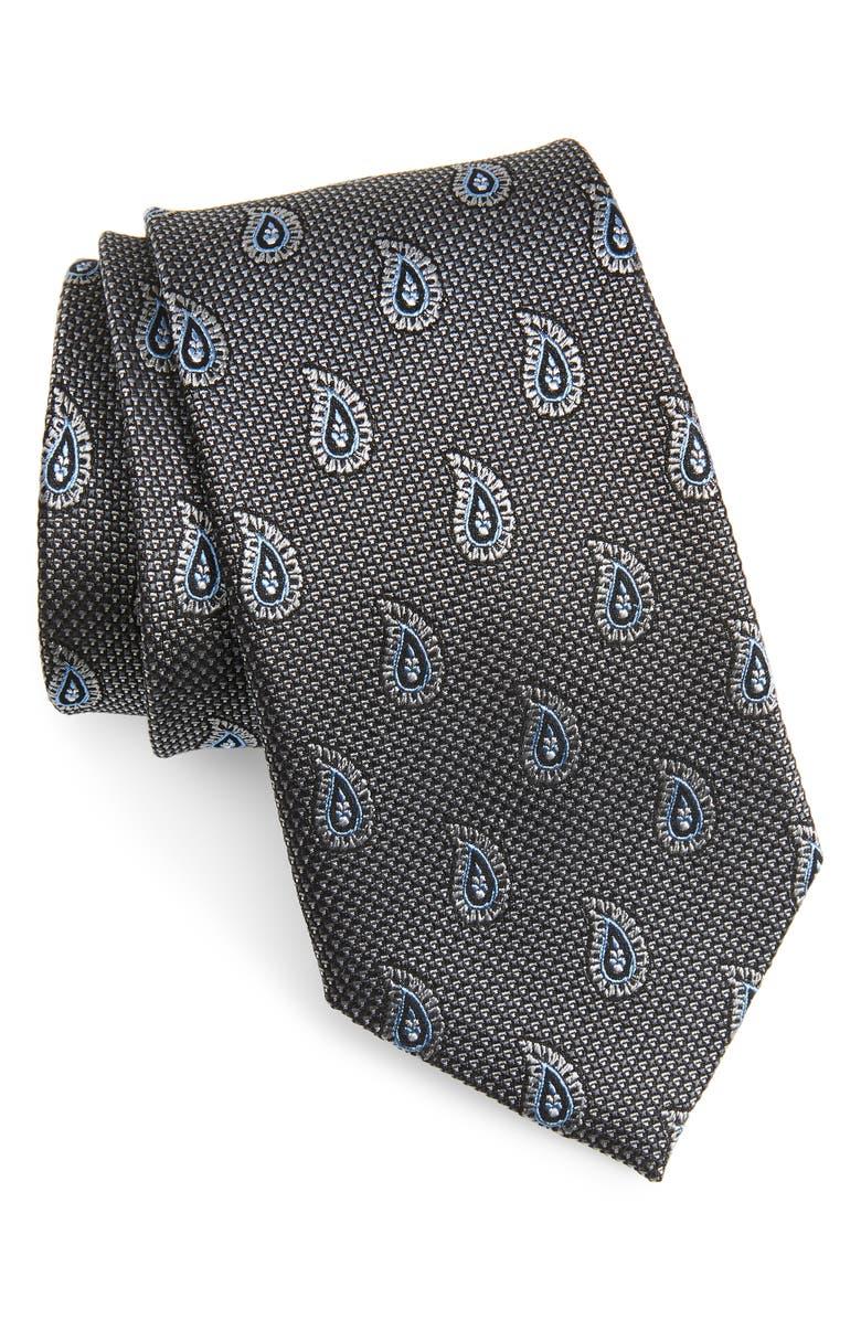 NORDSTROM MEN'S SHOP Paisley Silk Tie, Main, color, 040