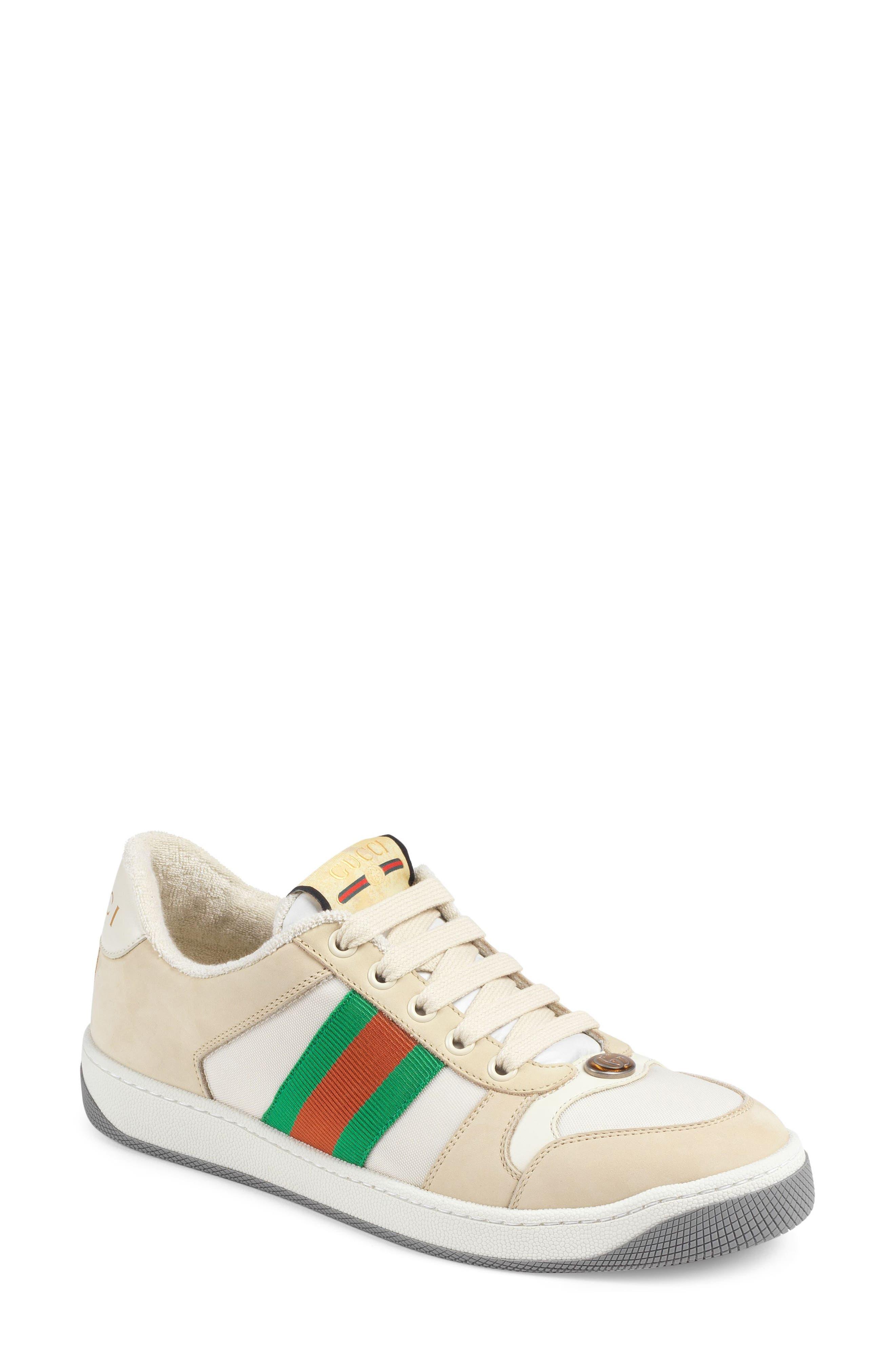 Gucci Screener Low Top Sneaker - Beige
