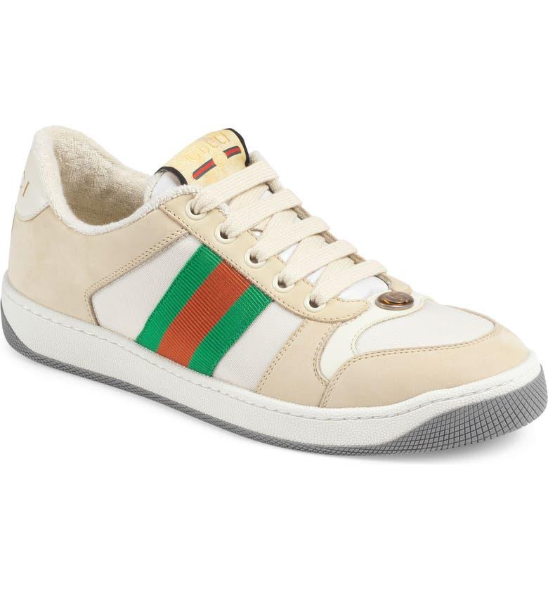 GUCCI Screener Low Top Sneaker, Main, color, BEIGE