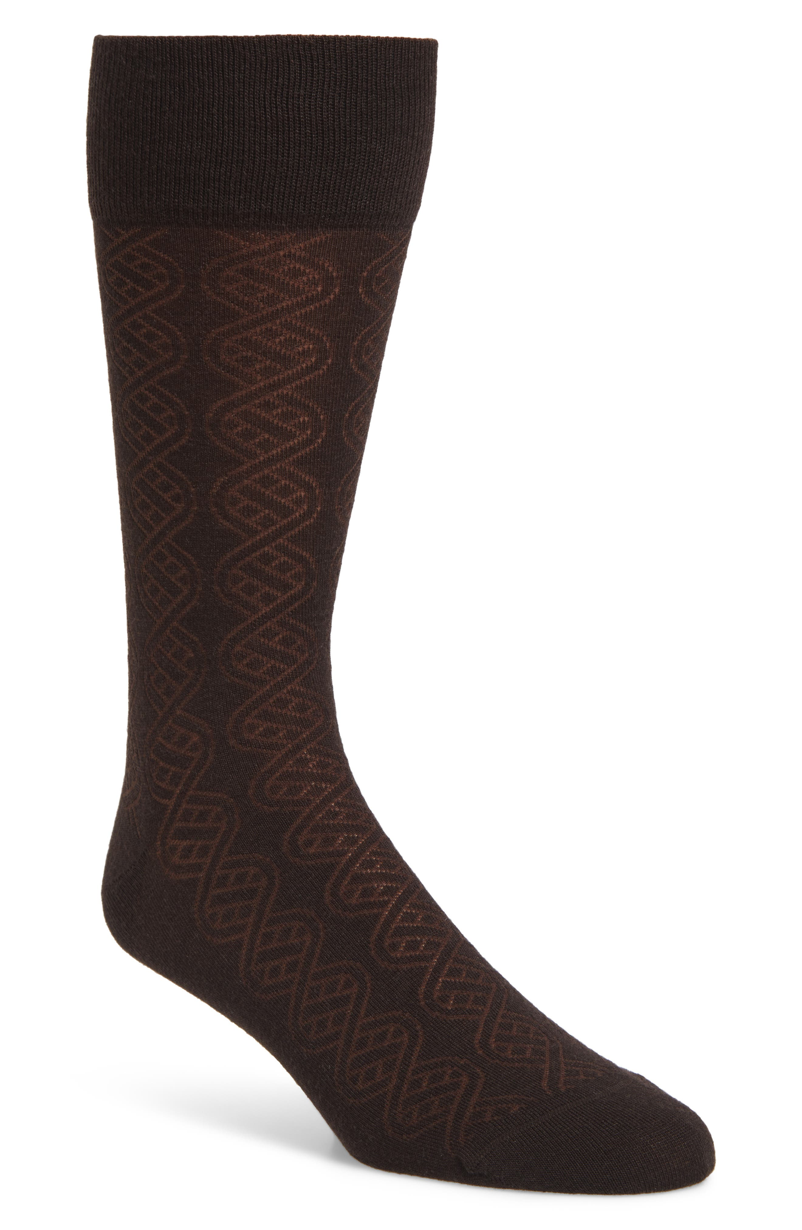 ,                             Cable Merino Wool Blend Socks,                             Main thumbnail 3, color,                             201