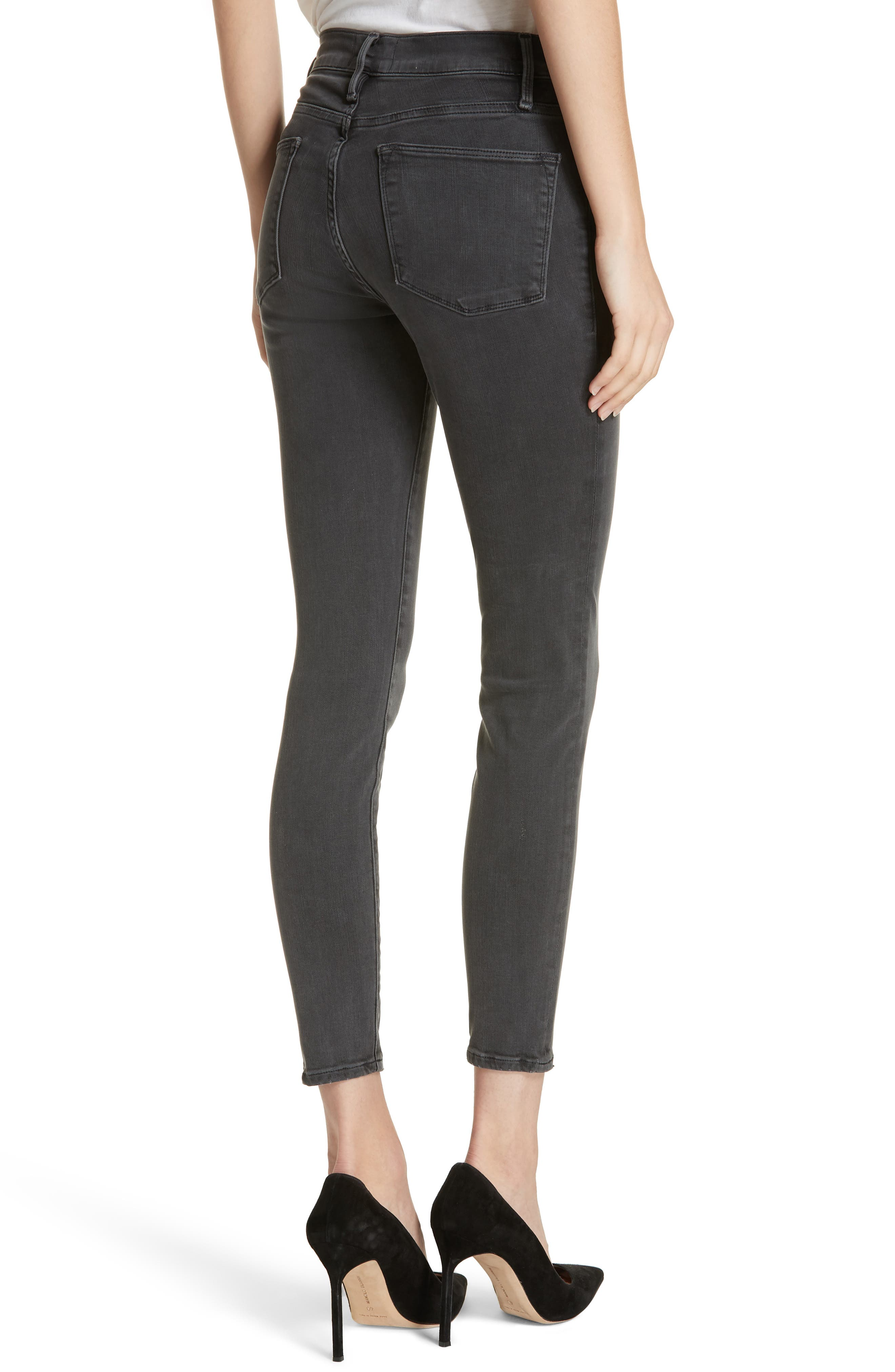 ,                             Le High Ankle Skinny Jeans,                             Alternate thumbnail 9, color,                             022