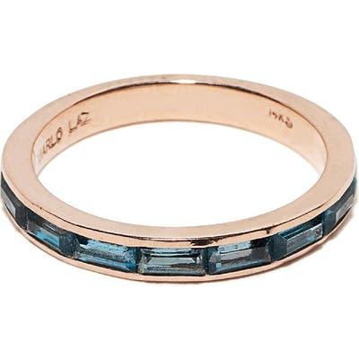 Marlo Laz Blue Topaz Baguette Ring