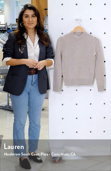 Essentials Cashmere Crop Sweater, sales video thumbnail