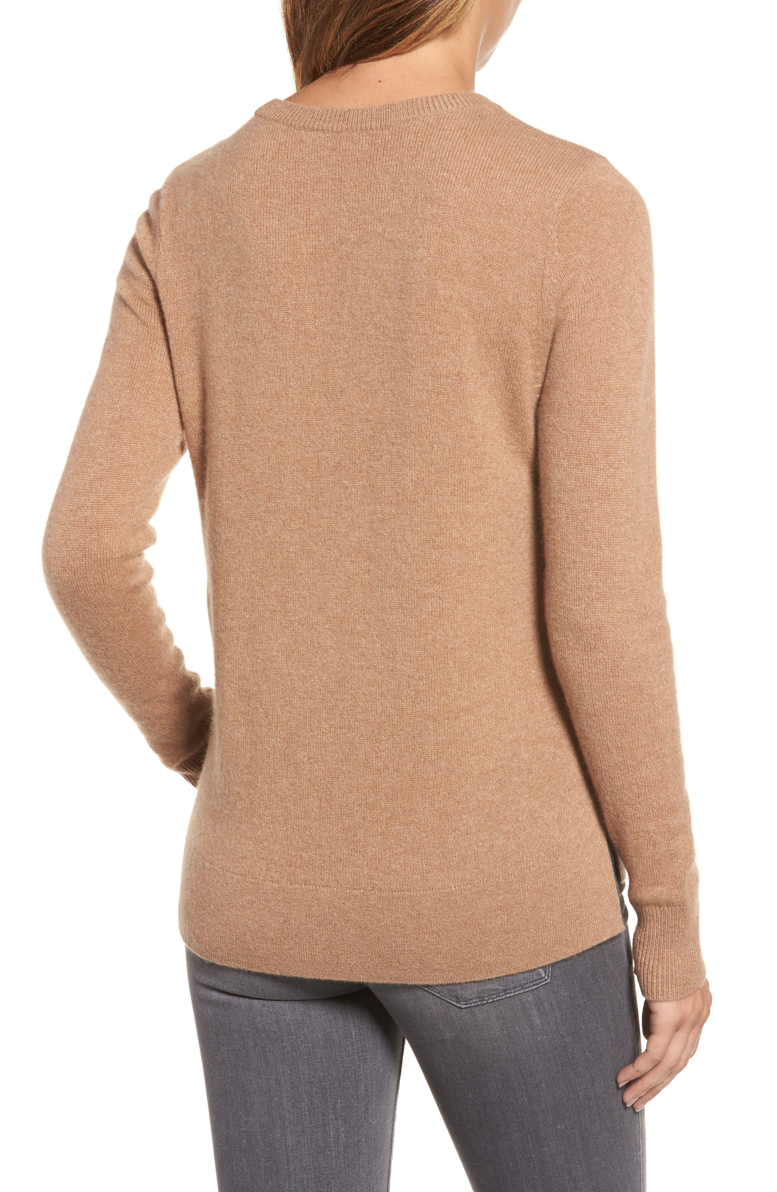 ,                             Crewneck Cashmere Sweater,                             Alternate thumbnail 261, color,                             235