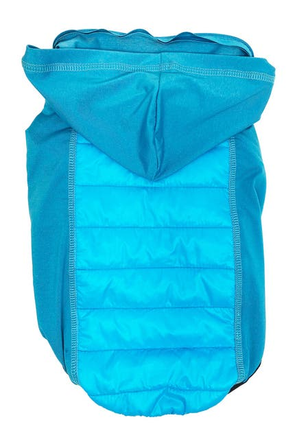 Image of Pet Life 'Apex' Lightweight Hybrid 4-Season Stretch & Quick-Dry Dog Coat w/ Pop out Hood - Medium